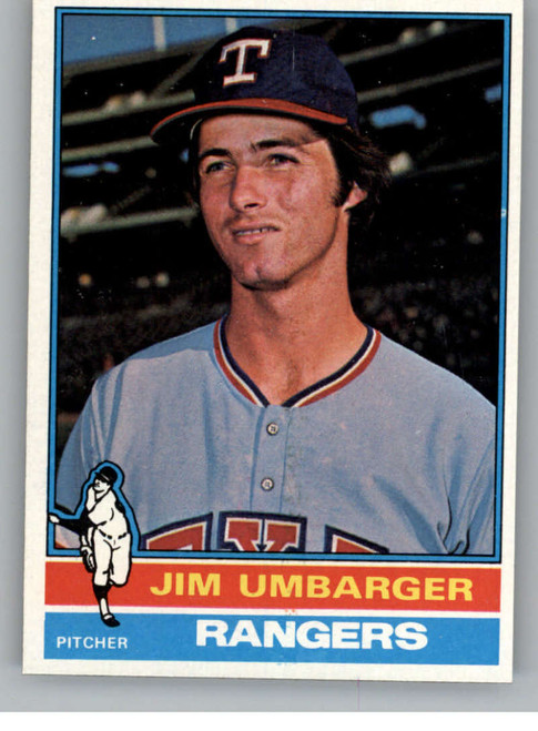 1976 Topps #7 Jim Umbarger VG RC Rookie Texas Rangers