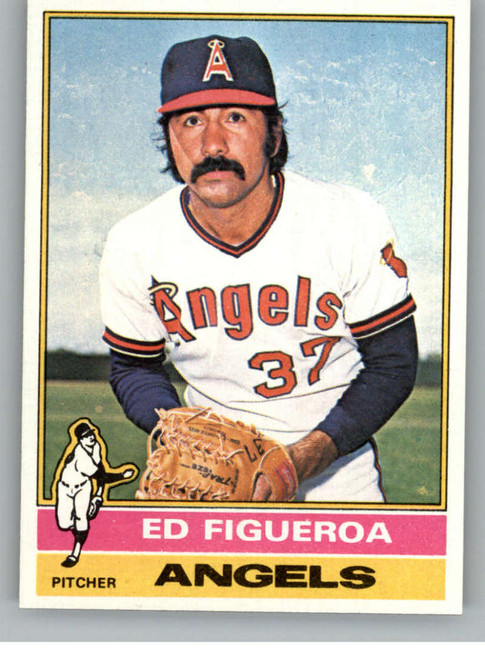 1976 Topps #27 Ed Figueroa VG California Angels