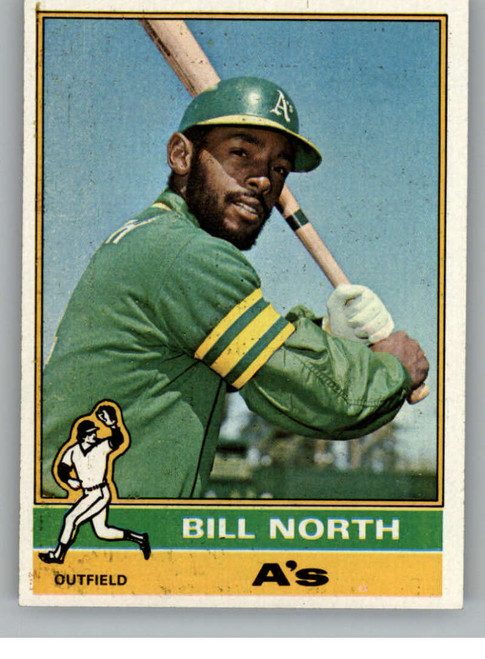 DELETE 85556 1976 Topps #33 Bill North VG Oakland Athletics