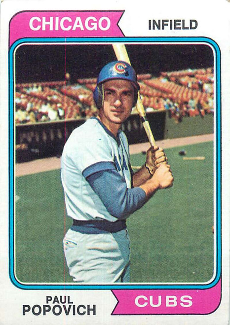 1974 Topps #14 Paul Popovich VG Chicago Cubs