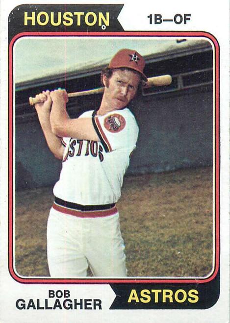 1974 Topps #21 Bob Gallagher VG RC Rookie Houston Astros