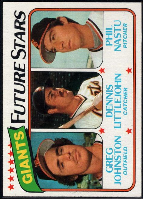 1980 Topps #686 Greg Johnston/Dennis Littlejohn/Phil Nastu Giants Future Stars VG RC Rookie San Francisco Giants