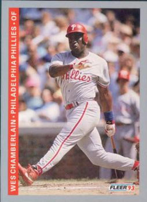 1993 Fleer #99 Wes Chamberlain VG Philadelphia Phillies