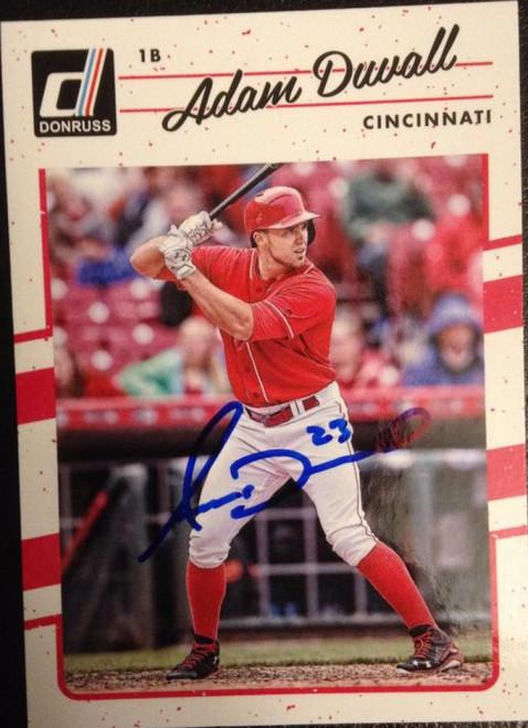 Adam Duvall Autographed 2017 Donruss #80