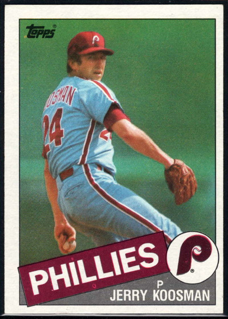 1985 Topps #15 Jerry Koosman VG Philadelphia Phillies