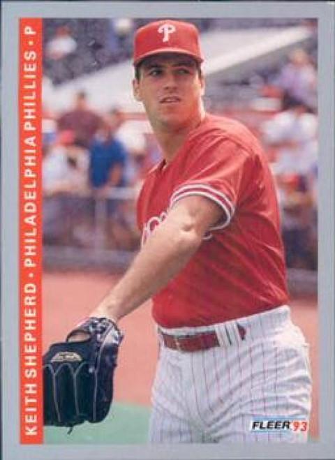 1993 Fleer #109 Keith Shepherd VG RC Rookie Philadelphia Phillies