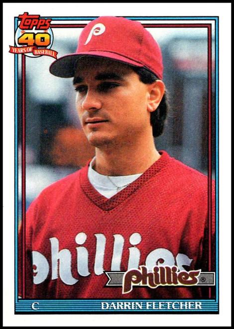 1991 Topps #9 Darrin Fletcher VG Philadelphia Phillies