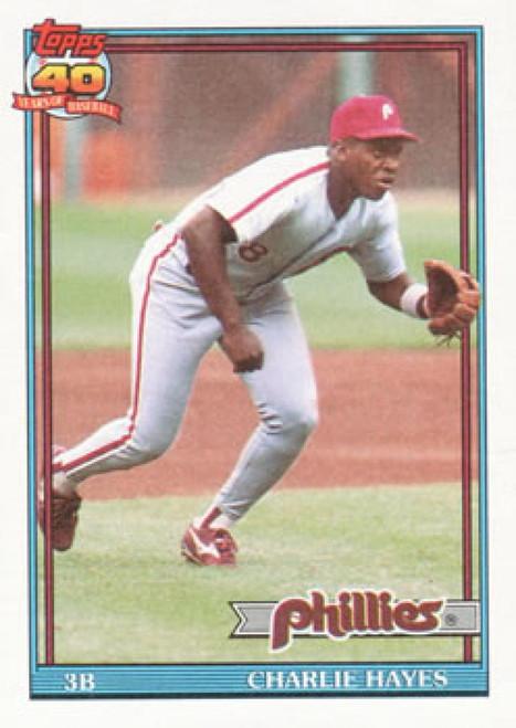 1991 Topps #312 Charlie Hayes VG Philadelphia Phillies
