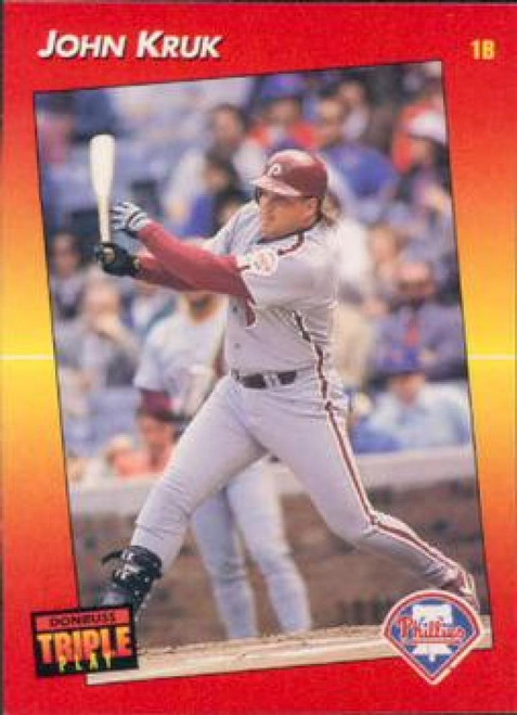 1992 Triple Play #38 John Kruk VG Philadelphia Phillies