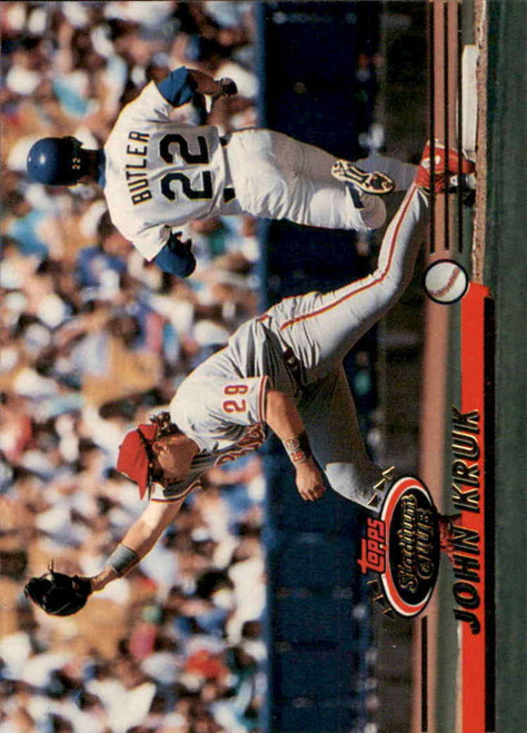 1993 Stadium Club #83 John Kruk VG Philadelphia Phillies