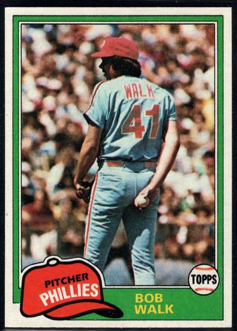 1981 Topps #494 Bob Walk VG RC Rookie Philadelphia Phillies