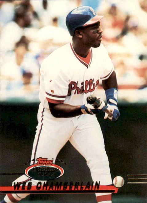 1993 Stadium Club #34 Wes Chamberlain VG Philadelphia Phillies