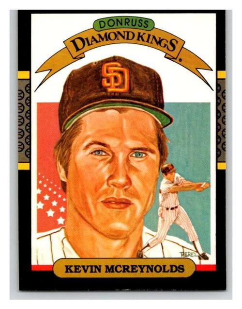 1987 Donruss #14a Kevin McReynolds DK ERR VG San Diego Padres