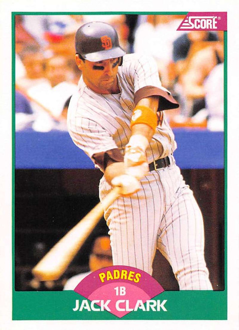 1989 Score Rookie/Traded #3T Jack Clark VG San Diego Padres