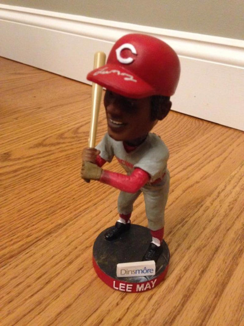 Lee May Autographed Cincinnati Reds Hall of Fame Bobblehead