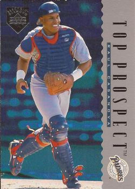 1995 Upper Deck Electric Diamond #11 Raul Casanova VG RC Rookie San Diego Padres
