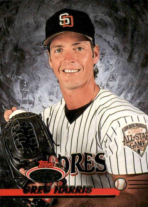 1993 Stadium Club #312 Greg Harris VG San Diego Padres
