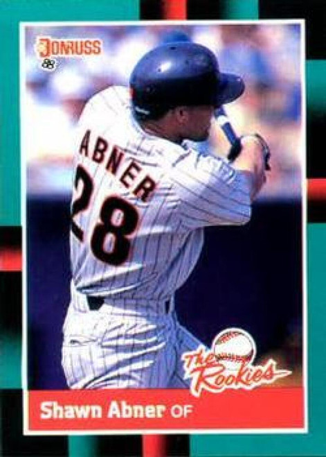 1988 Donruss Rookies #5 Shawn Abner VG San Diego Padres