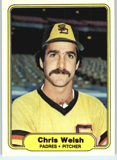 1982 Fleer #584 Chris Welsh VG San Diego Padres