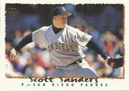 1995 Topps #33 Scott Sanders VG  San Diego Padres