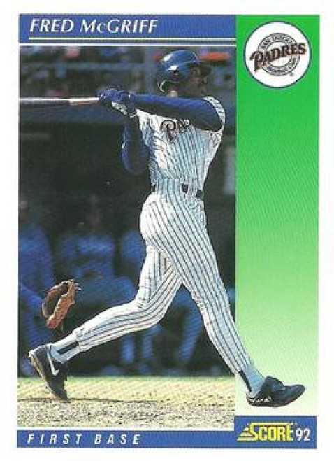 1992 Score #7 Fred McGriff VG  San Diego Padres