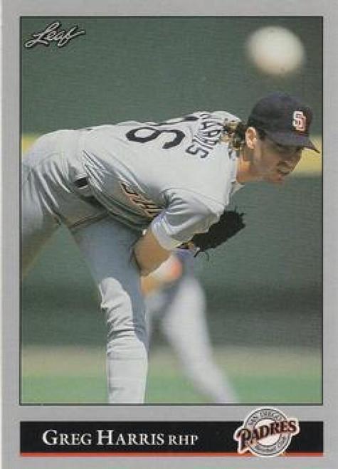 1992 Leaf #10 Greg Harris VG San Diego Padres