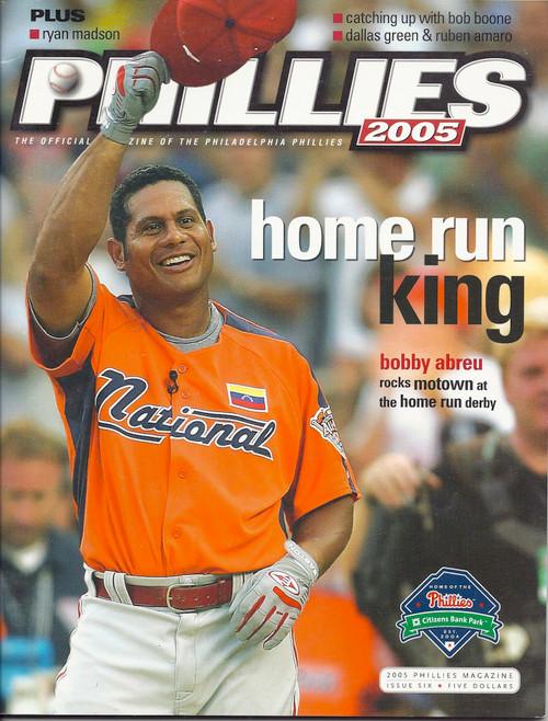Bobby Abreu 2005 Philadelphia Phillies Magazine Program