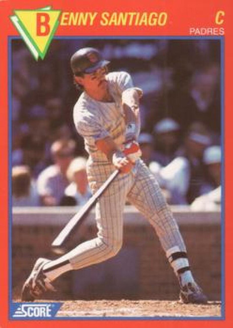 1989 Score Baseball's 100 Hottest Players #47 Benny Santiago NM-MT San Diego Padres