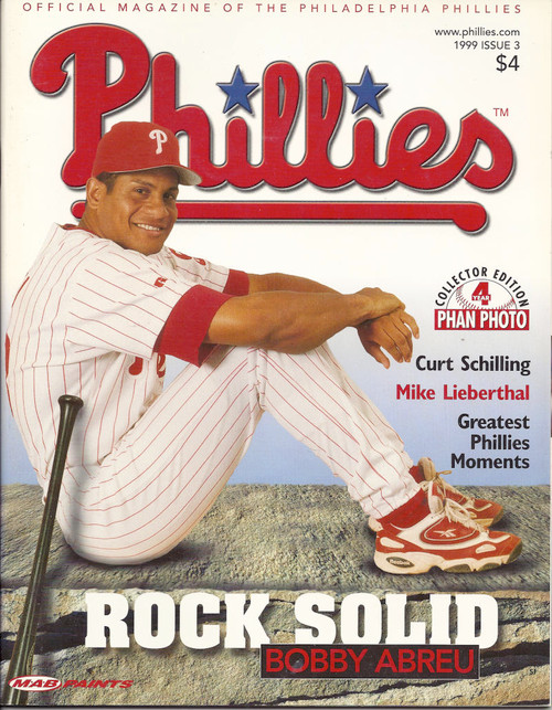Bobby Abreu 1999 Philadelphia Phillies Magazine Program