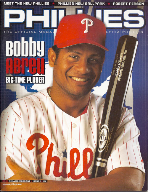 Bobby Abreu 2002 Philadelphia Phillies Magazine Program