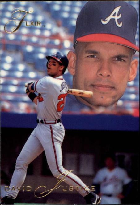 1993 Flair #5 David Justice NM-MT Atlanta Braves
