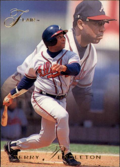 1993 Flair #9 Terry Pendleton NM-MT Atlanta Braves