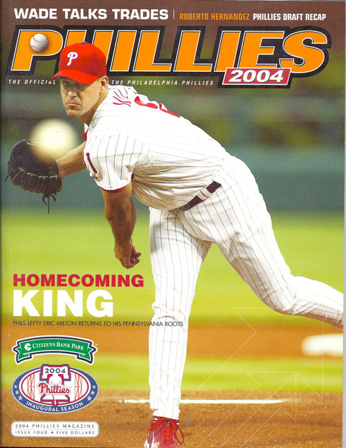 Eric Milton 2004 Philadelphia Phillies Magazine Program