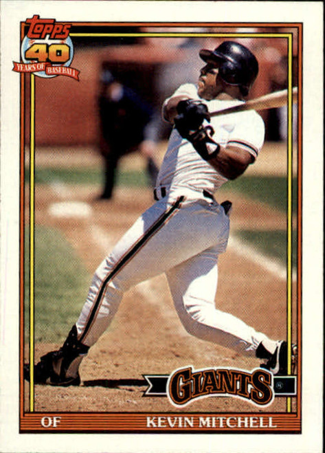 1991 Topps #40 Kevin Mitchell VG San Francisco Giants