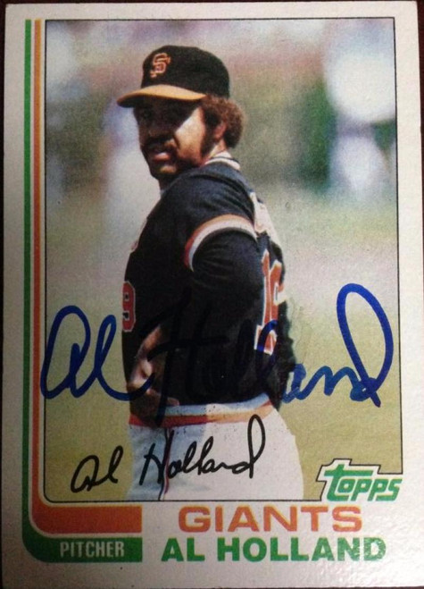 Al Holland Autographed 1982 Topps #406