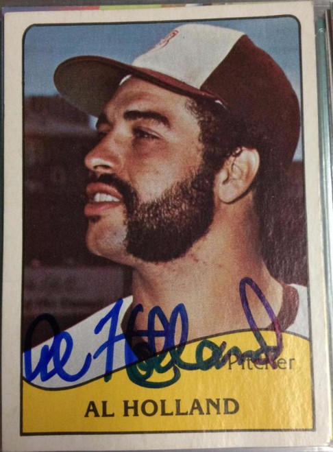 Al Holland Autographed 1979 TCMA Minor League Portland Beavers #329