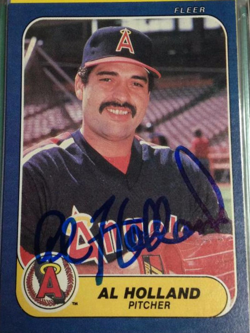 Al Holland Autographed 1986 Fleer #159