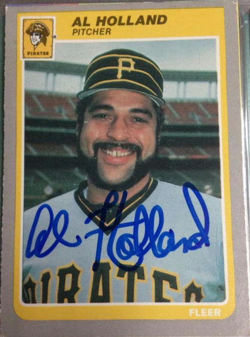 Al Holland Autographed 1985 Fleer Update #U-55