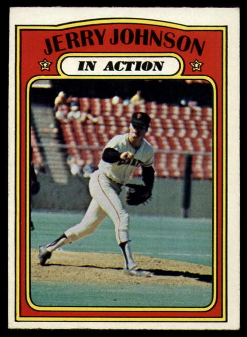 1972 Topps #36 Jerry Johnson IA VG San Francisco Giants