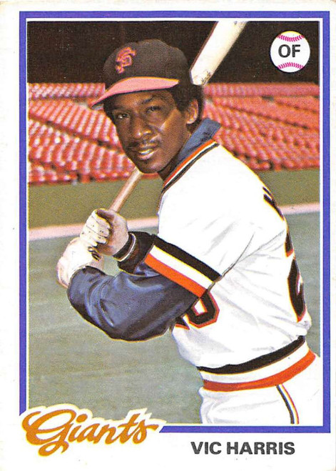1978 Topps #436 Vic Harris DP COND San Francisco Giants