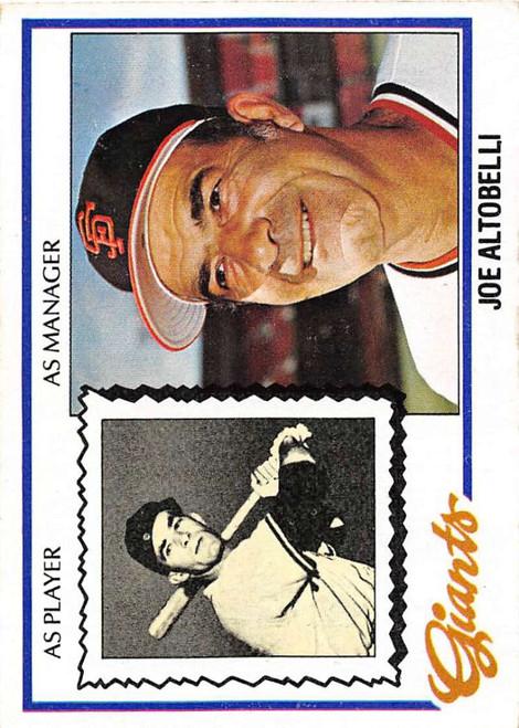 1978 Topps #256 Joe Altobelli/ COND RC Rookie San Francisco Giants