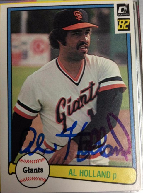 Al Holland Autographed 1982 Donruss #377