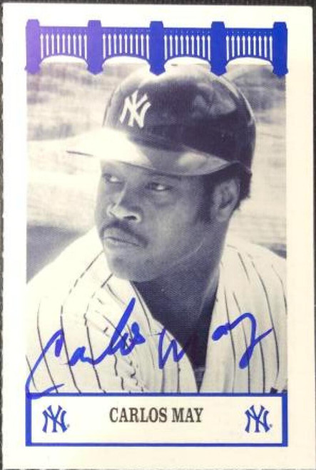 Carlos May Autographed 1992 WIZ Yankees of the 1970's #105