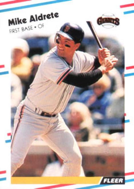 1988 Fleer #76 Mike Aldrete VG San Francisco Giants