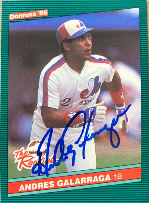 Andres Galarraga Autographed 1986 Donruss The Rookies #7
