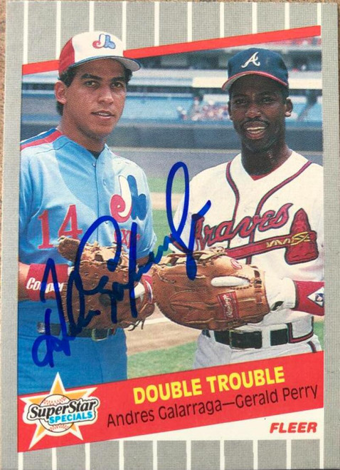 Andres Galarraga Autographed 1989 Fleer #638