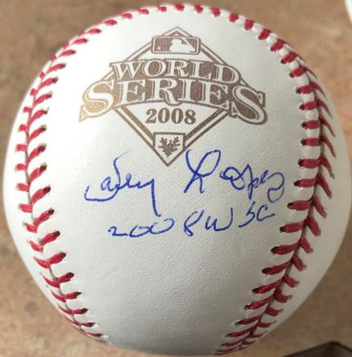 Davey Lopes Autographed 2008 World Series Baseball 2008 WSC Inscribed
