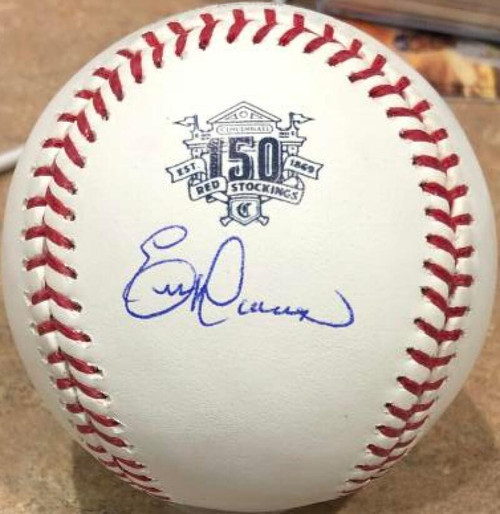 Eric Davis Autographed Cincinnati Reds 150th Anniversary Baseball