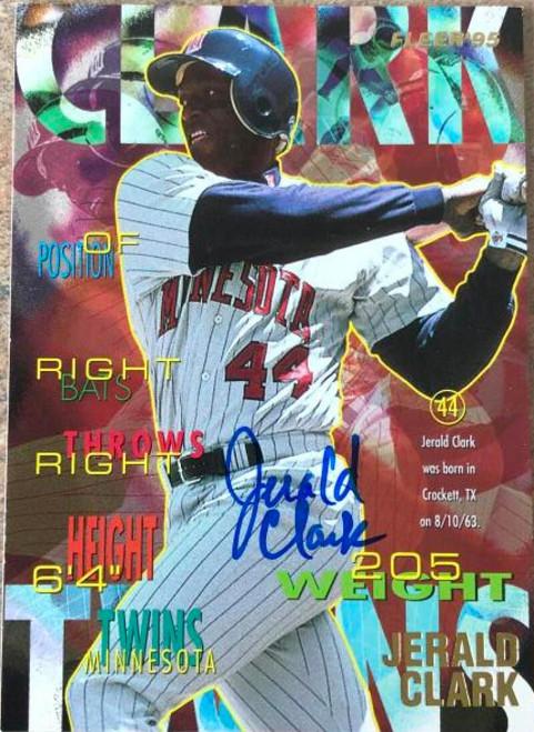 Jerald Clark Autographed 1995 Fleer Update #U-58
