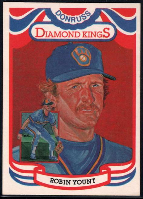 1984 Donruss #1 Robin Yount DK COR VG Milwaukee Brewers